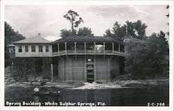 Spring Building, White Sulphur Springs Postcard