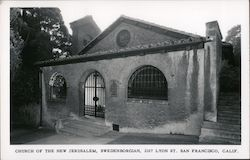 Church of the New Jerusalem, Swedenborgian, 2107 Lyon St.