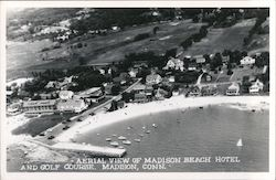 Aerial view of Madison Beach Hotel and Golf Course Postcard