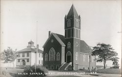 Union Church, West Jonesport, Me Postcard