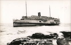 "Steamer ""Bay State"" (E.S.S. Corp.) Ashore on HOlycomb Postcard"