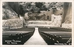 Interior-Pilgrimage Play Theatre Hollywood, Cal. -91 Postcard