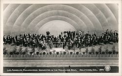 Los Angeles Philharmonic Orchestra in the Hollywood Bowl Postcard