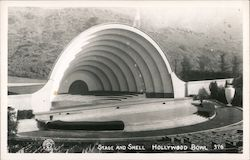 Stage and Shell Hollywood Bowl Postcard