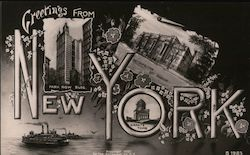 Greetings from New York - Manhattan Postcard
