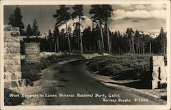West Entrance to Lassen Volcanic National Park Postcard