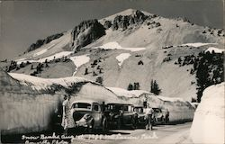 Snow Banks in August 1938 Postcard