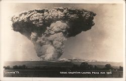 Great Eruption Lassen Peak May 1915 Postcard