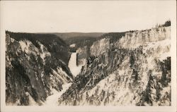 View of mountain water fall Postcard