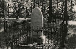 Grave of Nancy Hanks Lincoln, Nancy Hanks Lincoln State Memorial, Indiana Department of Conservation
