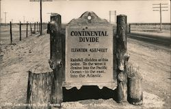 Continental Divide Trading Post sign Elevation 4.587 Feet Postcard