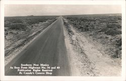 Southern New Mexico as seen from Highways No. 70 and 80 Postcard
