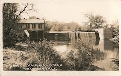 Power House and Dam Postcard