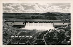 Grand Coulee Dam from Crown Point Postcard