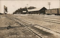 Railroad Depot Postcard