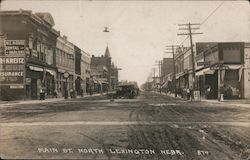 Main St. North Lexington, Nebr. Postcard