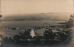 Crawford, Nebr from Butte's Postcard