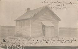 Dist. No. 3 Old School House Postcard