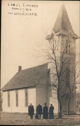 Last Official Board of the Congregational Church Postcard