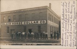 Horse Collar Factory Postcard