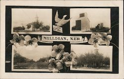 Greetings from Milligan Multiview Postcard