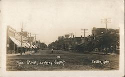 """Main Street, Looking South"" Postcard"