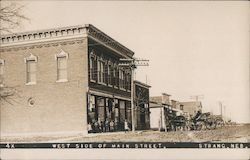 West Side of Main Street Postcard