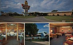 Pony Express Motel & Restaurant Postcard
