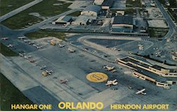 Hangar One - Herndon Airport - Southern Airways of Florida Postcard