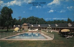 Magnolia Court and Grill Postcard