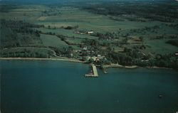 Aerial View of St. Albans Bay Beach Postcard