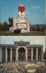 Holy Land Replica, Kennedy, Martin Luther King Memorials Postcard