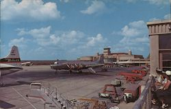 Greater Fort Worth Int'l Airport-East elevation and loading apron-Amon Carter Field