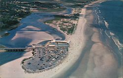 Aerial view of beach area and Ogunquit River Postcard