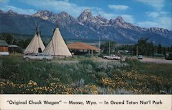 Original Chuck Wagon in Grand Teton Nat'l Park Postcard