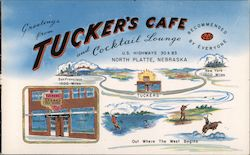 Greetings from tucker's Cafe and Cocktail Lounge - Recommended by everyone Postcard