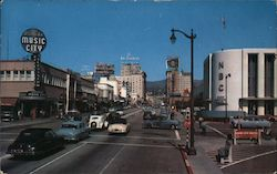 Sunset and Vine Streets Postcard