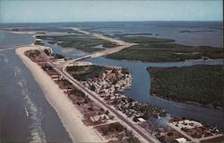 Bonita Springs Beach on Gulf of Mexico. Causeway crossing on Old Hickory Creek Postcard