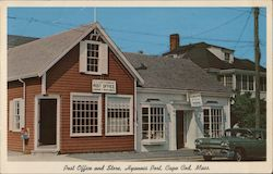Post Office and Store Postcard