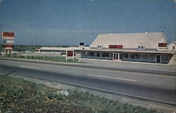 South Wind Motor Inn and Chinese American Dining Room Postcard