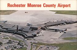 Rochester Monroe County Airport Postcard