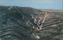 Aerial View of Mad River Glen Ski Area Postcard