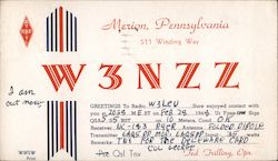 W3NZZ - Ted Trilling Postcard