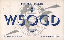W5QGD - Harvey G. Cross, 909 Alamo Court Postcard