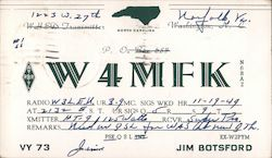 W4MFK - Jim Botsford Postcard