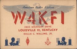 W4KFI - Rollie C. Walling, Jr. Postcard