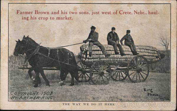Giant Corn - The Way We Do It Here Crete Nebraska Archer King