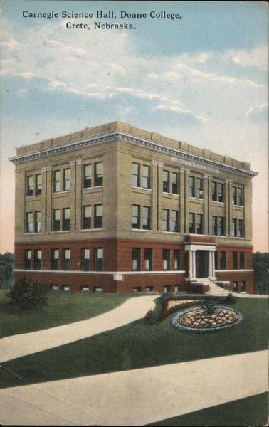 Carnegie Science Hall, Doane College Crete Nebraska