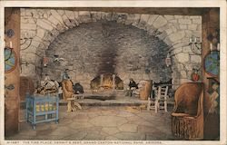 The Fire Place, Hermit's Rest Postcard