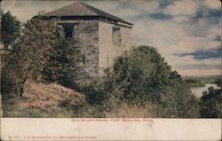 Old Block House, Fort Snelling, Minn. Postcard